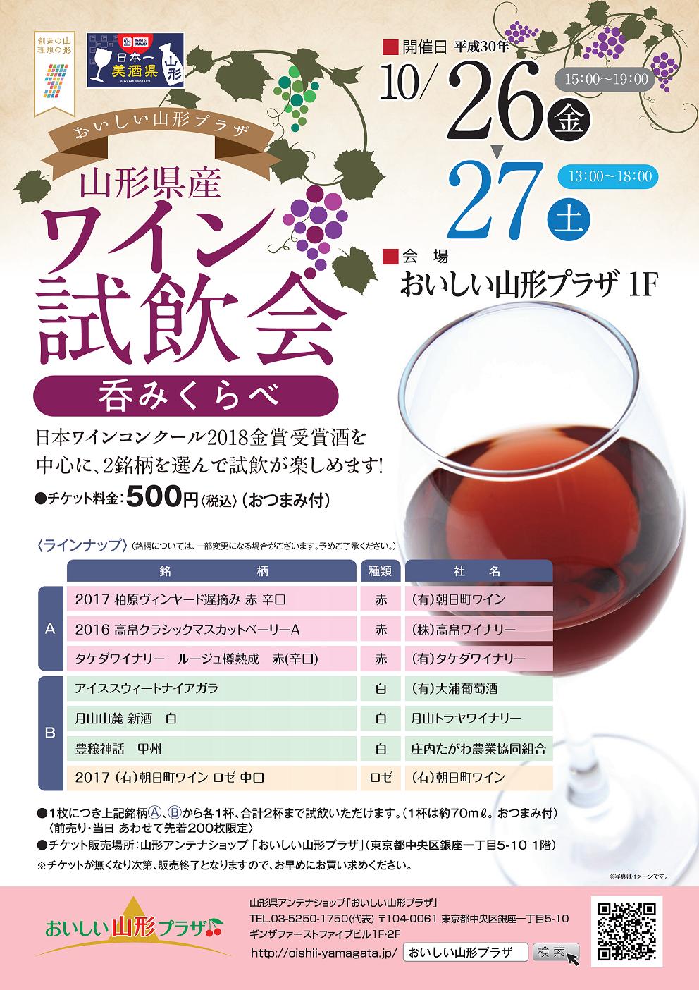 ワイン呑みくらべ